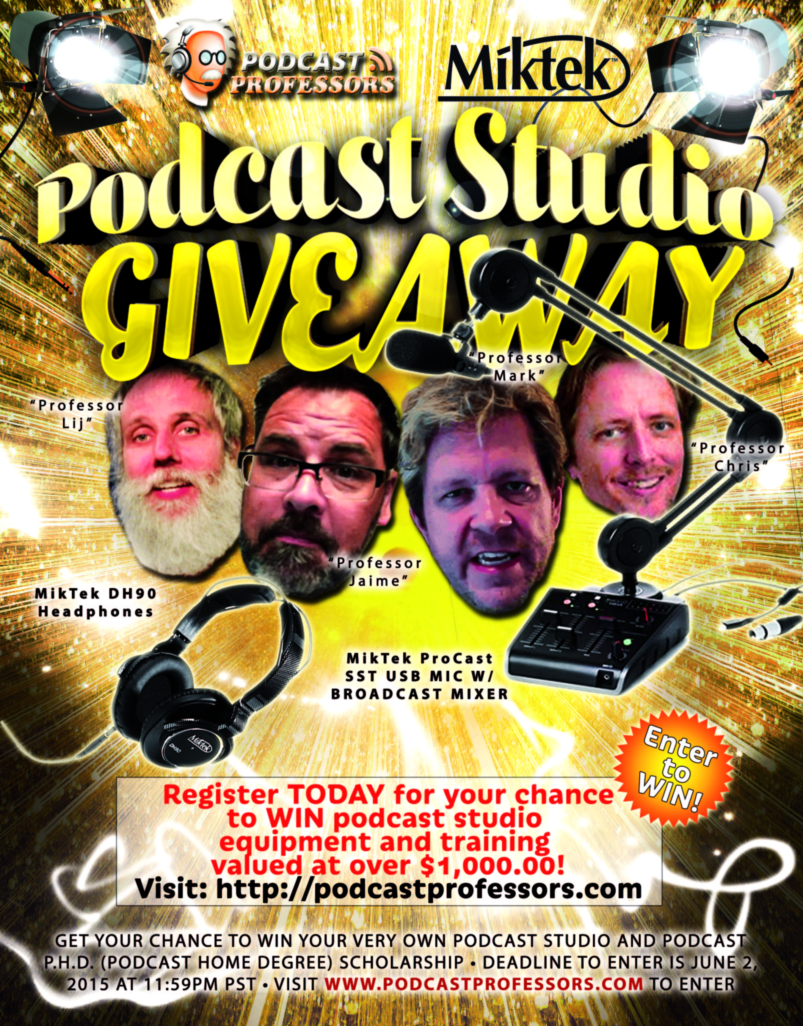 Podcast Studio Giveaway Revision