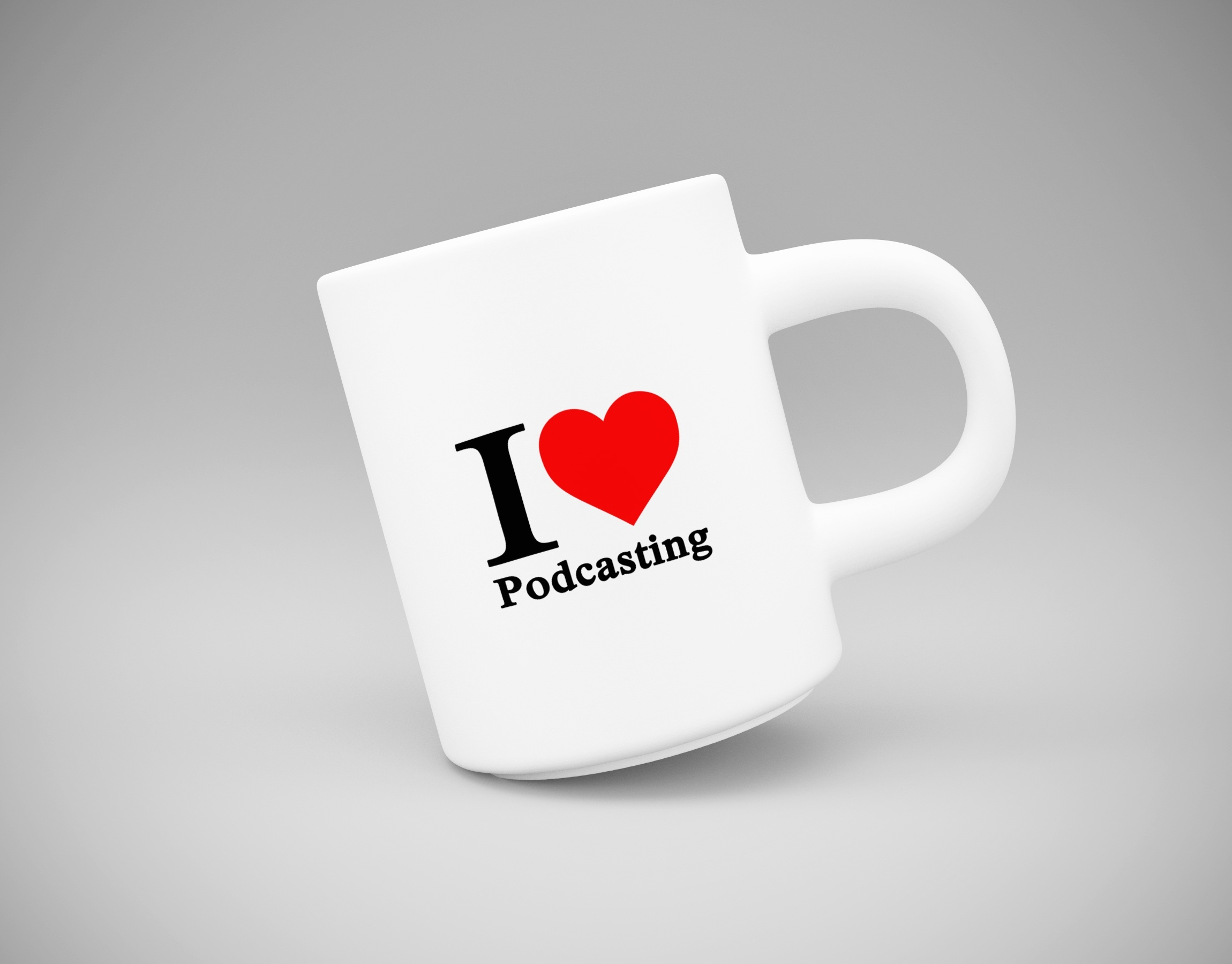 love podcasting mug